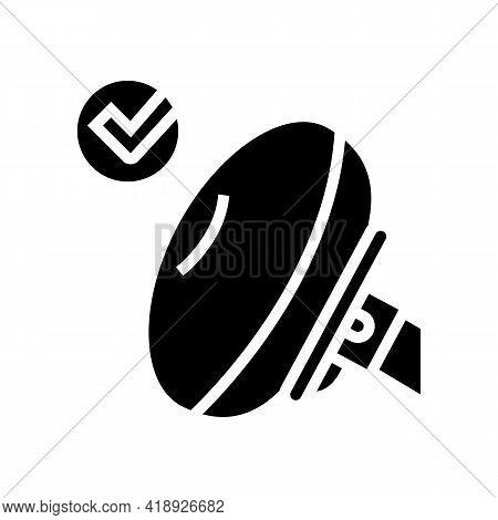Airbag Testing Car Glyph Icon Vector. Airbag Testing Car Sign. Isolated Contour Symbol Black Illustr