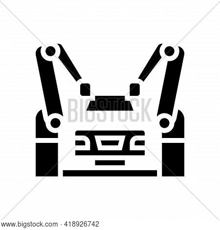 Assembly Car Glyph Icon Vector. Assembly Car Sign. Isolated Contour Symbol Black Illustration