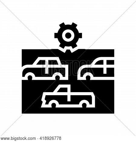 Choice Of Car Body Type Glyph Icon Vector. Choice Of Car Body Type Sign. Isolated Contour Symbol Bla