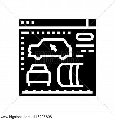 Design Development And Car Appearance Glyph Icon Vector. Design Development And Car Appearance Sign.