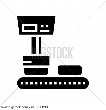Industry Equipment Cheese Production Glyph Icon Vector. Industry Equipment Cheese Production Sign. I
