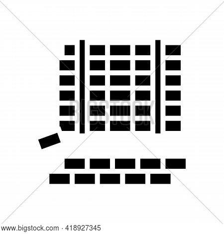 Paving Slabs Concrete Glyph Icon Vector. Paving Slabs Concrete Sign. Isolated Contour Symbol Black I