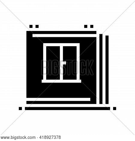 Walls Of Panel House Glyph Icon Vector. Walls Of Panel House Sign. Isolated Contour Symbol Black Ill