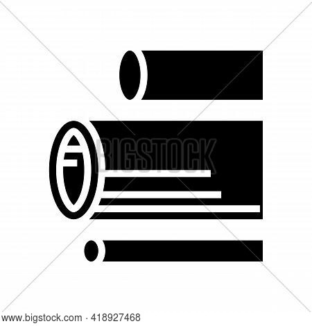 Water Pipes Concrete Glyph Icon Vector. Water Pipes Concrete Sign. Isolated Contour Symbol Black Ill