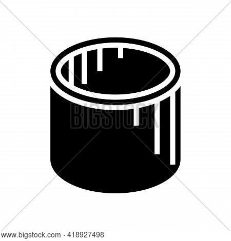 Well Rings Concrete Glyph Icon Vector. Well Rings Concrete Sign. Isolated Contour Symbol Black Illus