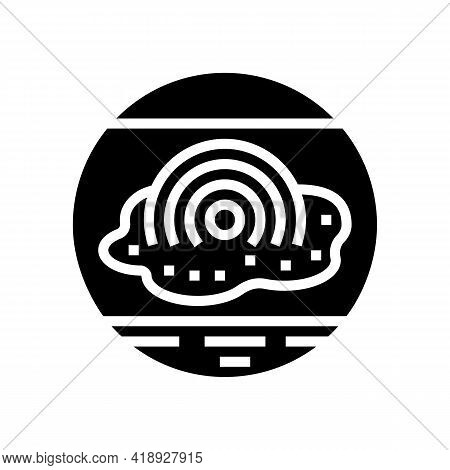 Pain Eczema Glyph Icon Vector. Pain Eczema Sign. Isolated Contour Symbol Black Illustration