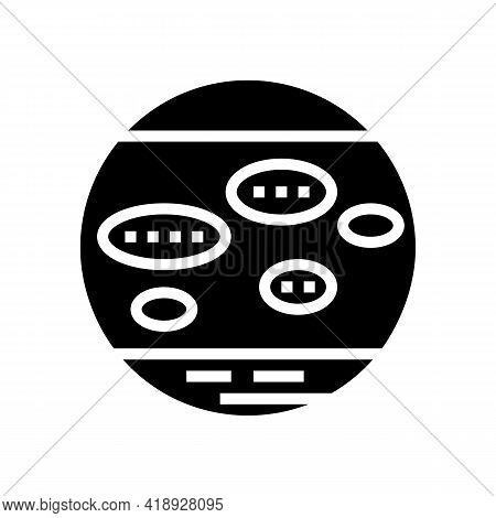 Nummular Eczema Glyph Icon Vector. Nummular Eczema Sign. Isolated Contour Symbol Black Illustration