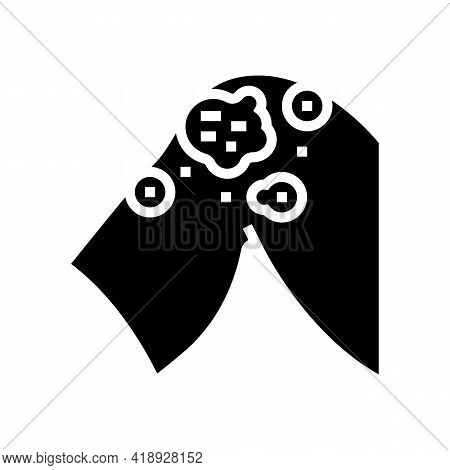 Atopic Dermatitis Glyph Icon Vector. Atopic Dermatitis Sign. Isolated Contour Symbol Black Illustrat