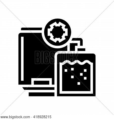 Synthesis Pharmaceutical Production Glyph Icon Vector. Synthesis Pharmaceutical Production Sign. Iso