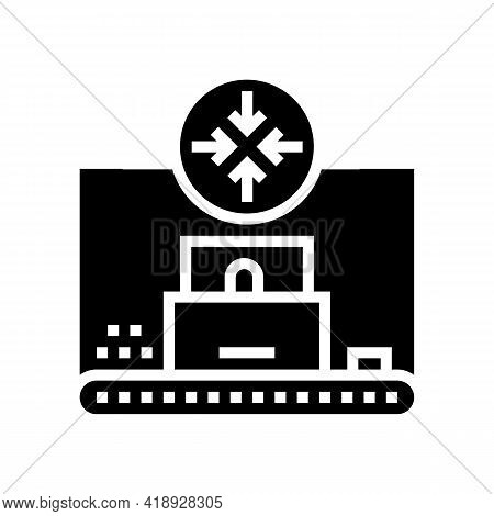 Compression Pharmaceutical Production Glyph Icon Vector. Compression Pharmaceutical Production Sign.