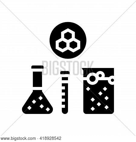 Chemical Substrate Pharmaceutical Production Glyph Icon Vector. Chemical Substrate Pharmaceutical Pr