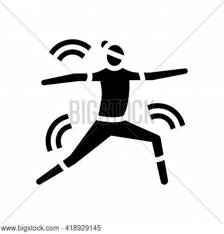 Yoga Leisure Glyph Icon Vector. Yoga Leisure Sign. Isolated Contour Symbol Black Illustration