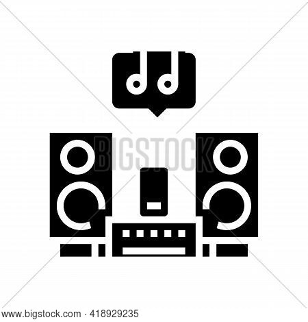 Music Leisure Glyph Icon Vector. Music Leisure Sign. Isolated Contour Symbol Black Illustration