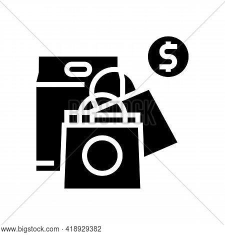 Shopping Leisure Glyph Icon Vector. Shopping Leisure Sign. Isolated Contour Symbol Black Illustratio