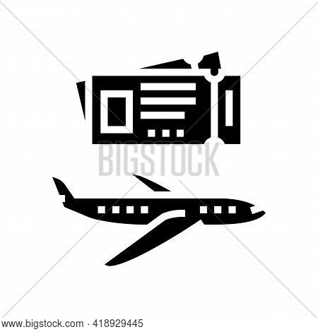 Journey Traveling Leisure Glyph Icon Vector. Journey Traveling Leisure Sign. Isolated Contour Symbol