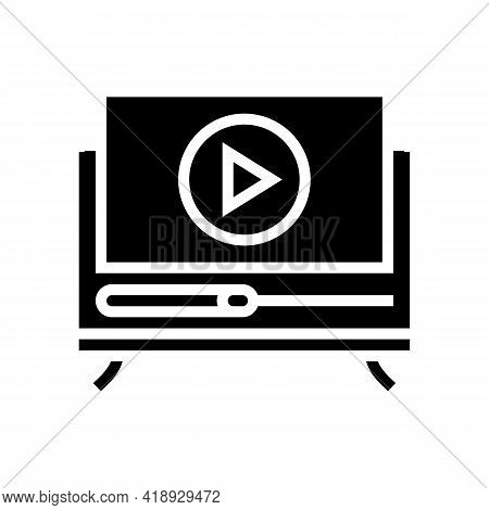 Movies Leisure Glyph Icon Vector. Movies Leisure Sign. Isolated Contour Symbol Black Illustration