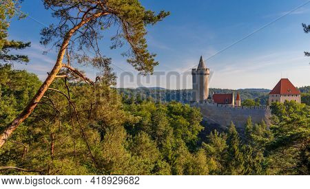 Medieval castle Kokorin in north Bohemia, Czech republic