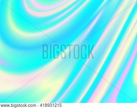 Vibrant Color. Hologram Fluid Background. Colorful Design. Futuristic Poster. Vibrant Liquid Color.