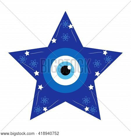 Greek Evil Eye, Symbol Of Protection. Glass Turkish Eye Nazar Boncugu. Amulet, Talisman From The Evi