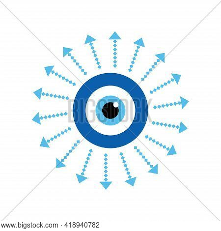 Amulet Evil Eye Isolated. Talisman To Protect Against Evil Eye. Greek Evil Eye, Symbol Of Protection