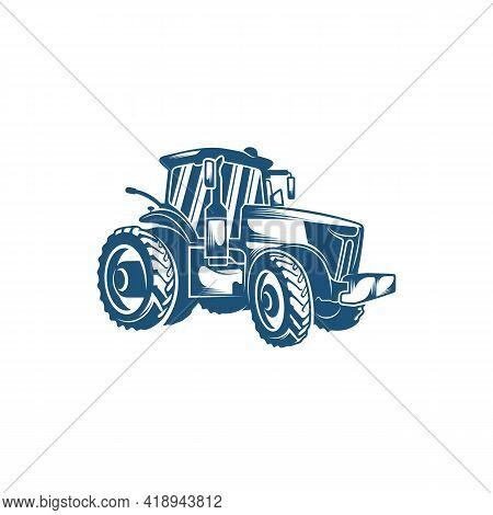 Tractor Design Vector Illustration, Creative Tractor Logo Design Concept Template, Symbols Icons