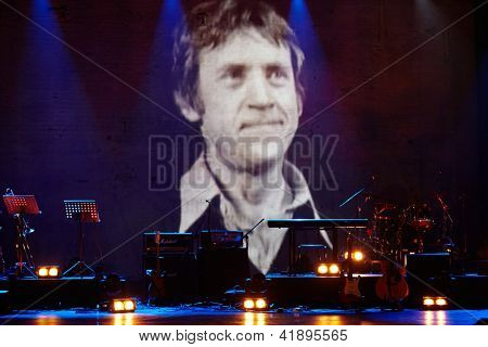 MOSCOW - JAN 23: Stage at Taganka Theater during Award ceremony of Prize named after Vladimir Vysotsky Own Track, Jan 23, 2012, Moscow, Russia. Prize is awarded each year since 1998.