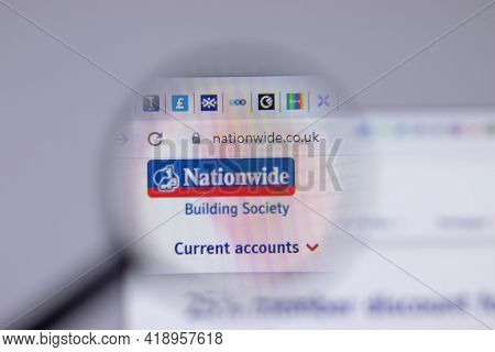 New York, Usa - 26 April 2021: Nationwide Building Society Company Logo Close-up On Website Page, Il