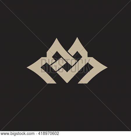 Mb, Em Eb Or Mm Monogram Logo. Vector Concept.