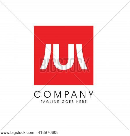 Mu Monogram Logo. Letter Based Vector. Minimalist And Modern Style Symbol, Perfect Fit For Brand Or