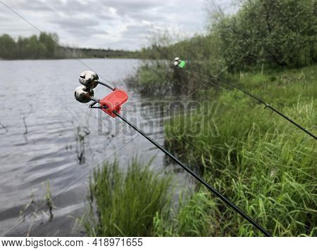 Bells, Bells On A Fishing Rod, Close-up.