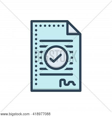 Color Illustration Icon For Agreement Compromise Deal Settlement Conciliation Understanding