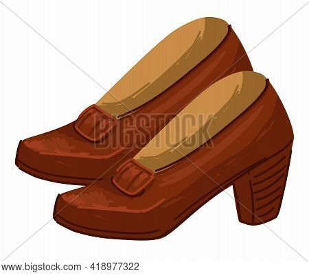 Vintage Female Shoes On High Heels, Fashion Trend