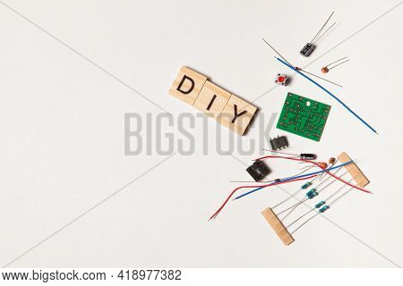 Electronic Component, Electric Circuits, Speaker, Light-emitting Diode, Digital Microchip And Other