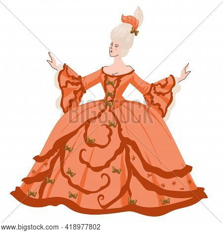 Baroque Or Rococo, Woman In Traditional Dress