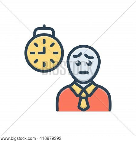 Color Illustration Icon For Waiting Expectation Hope Person Prospect