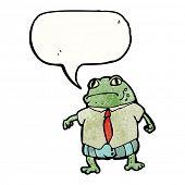 cartoon toad in suit poster