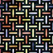 Seamless. Pattern (plastic aqua metal) stripes. Good for replicate poster