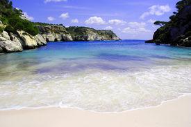 Beautiful beach in Menorca