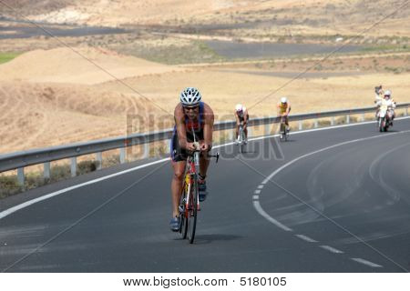 Spain - May 23: Dave Rost From Overloon Brabant Netherlands  In Ironman Triathlon 2009 Event May 23