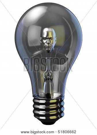 Man In Light Bulb