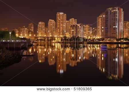 Night Skyline, Vancouver, British Columbia