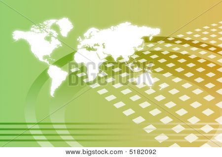Corporate Worldwide Growth Abstract Background With Map poster