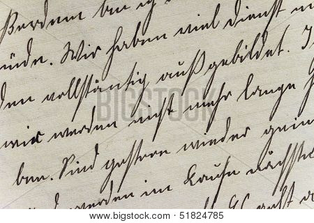 Historic Handwriting Style on Hand-Made Paper