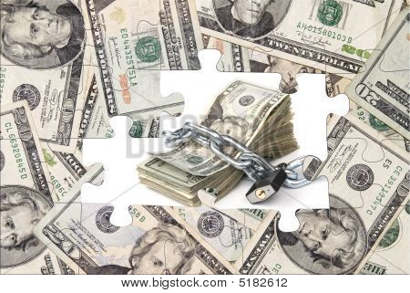 Money Puzzle With Chained Cash