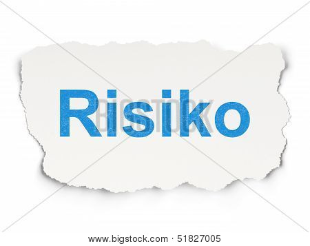 Finance concept: Risiko(german) on Paper background