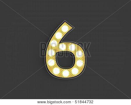 Light Vintage Number Six