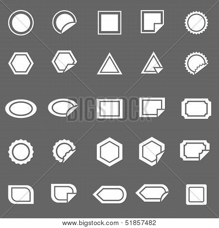 Label Icons On Gray Background