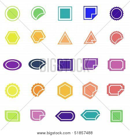 Label Color Icons On White Background