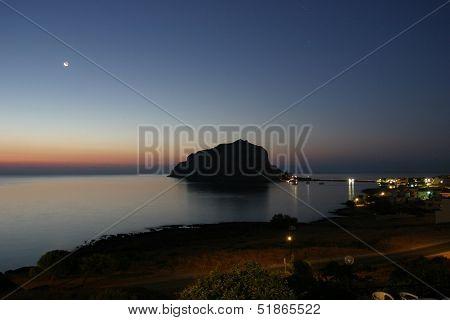 Monemvasia by night