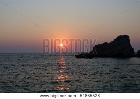 Sunset at the Petani Beach